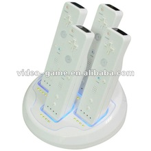 Blue light For WII Remote Quad Charger wii accessory
