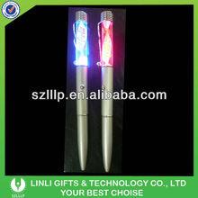 New design metal led light fiber pen