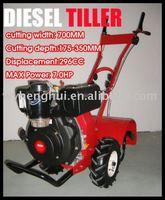 agricultural tool diesel rotovator 7HP