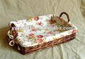 Retângulo marrom de vime cesta de pão com alça( fornecedor da fábrica)