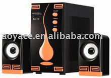 2.1ch multimedia de audio sa-19 mini tv lcd dvd combo