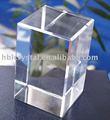 claro cubo de cristal blanco