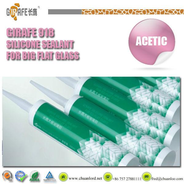 GIRAFE RTV-1 Transparent acidic silicone sealant for big flat glass