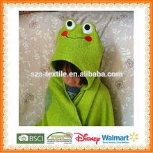 funny animal kids hooded poncho towel