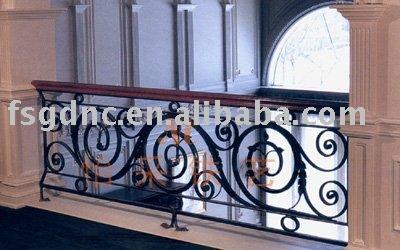 Interior moderno de hierro forjado pasamanos de la - Pasamanos de hierro forjado para escaleras ...