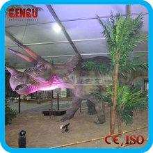 indoor playground Animatronics fight dinosaur model group