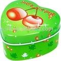 hortelã frutas coração caixa de lata