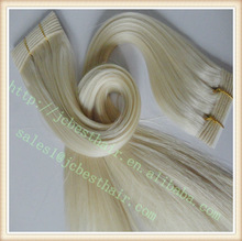 Wholesale bottom price 100% hand tied Remy Indian temple Human Hair weft/weaveWeaving