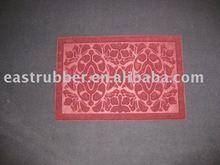 stain resistant /anti slip printed rubber door mat