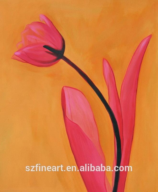 Nueva llegada y diseño de la flor pintura al óleo para la decoración del hogar con pintura de la tela fotos