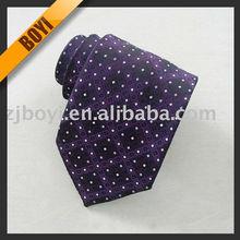 Business Purple Silk Dot Tie For Men