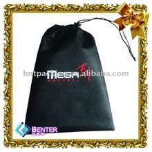 Eco-friendly drawstring black non woven bag,shopping trolley bag with seat,pp woven bag