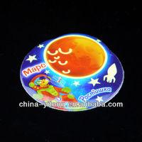 Custom Glow In The Dark Fluorescent Puffy Sticker