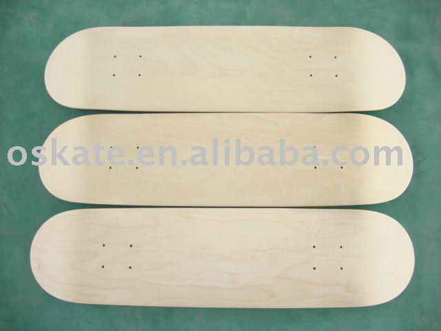 "7.75"" PRO Oskate skateboards, blank canadian maple skateboard decks,cold pressed ! (OS-2012B)"