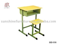 Single Standard Classroom Desk and Chair / School Furniture