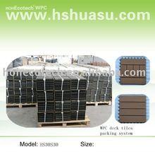 DIY tile/wood plastic composite decking tile/outdoor wpc floor
