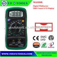 Mastech MAS830L 2000 Counts, 3.5 digit , Manual Range Pocket Digital Multimeter