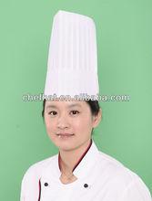 special white non woven falt top chef hat