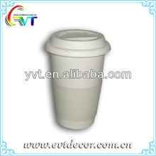 Porcelain Coffee Mug With Lid