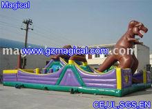 Large dinosaur inflatable fun city/giant dragon city playground