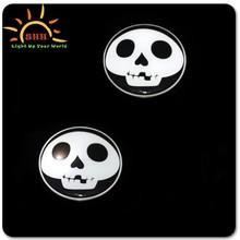 halloween led flashing badge/LED lighted glow badge/palstic pin with badge