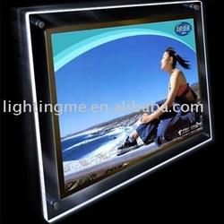 aluminum snap frame diy led light box with CE FCC RoHs