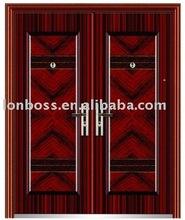 double steel security metal door iron door