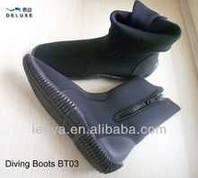 Neoprene and rubber sole long scuba boots BT03 with zipper for riding, fishing,diving watersports for man or women