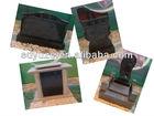 black granite tombstone