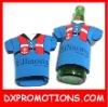 SHIRT shaped beer cooler holder bag for single bottle/holders for bottles