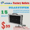 handy portable mini 15W solar panel system sun power generator for homg lighting