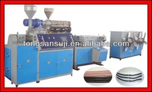 plastic single wall corrugated pipe production line -new technology