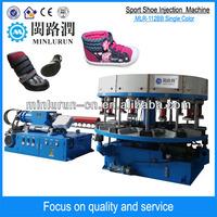 Automatic double color canvas sport shoe sole injection molding machine