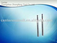 Tungsten carbide long neck ball head end milling cutter
