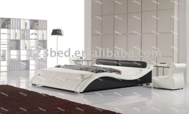 Modern cama de cuero A040