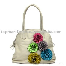 newest fashion lady handbag with the flower