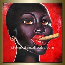 Pop Art African Girl Oil Paintings