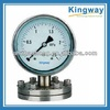Bottom connection all stainless steel diaphragm seal bourdon tube pressure gauge