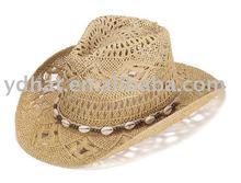 2015 Fashion paper straw ladies beach cowboy hat