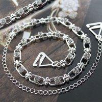 BB172-014 Cute Rhinestone Alloy Fashion Crystal Chain Bra Strap