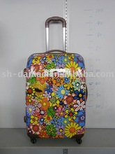 abs polycarbonate colourful royal trolley luggage case