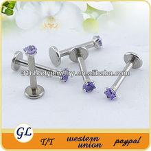 ashion 316l stainless steel lip piercing jewelry