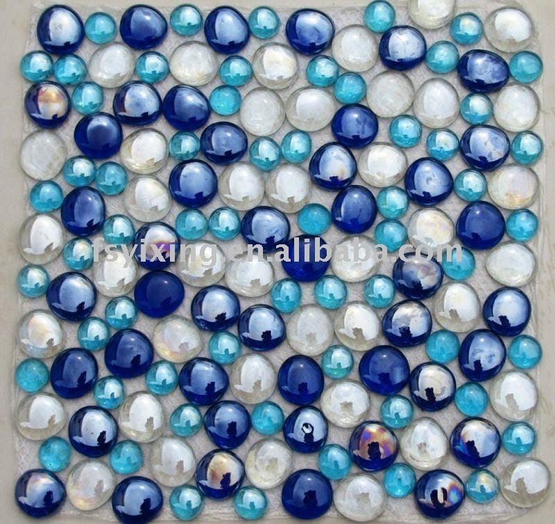 Pebble Glass Mosaic For Bathroom Floor Tilescommercial Pool Tiles