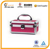 aluminum cosmetic case, pink cosmetic case, PVC cosmetic case