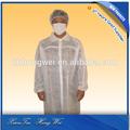 desechables de moda blanco química antiestático de laboratorio abrigos