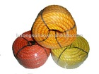 colorful 3strands recycled pe rope