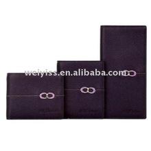 Purple different shape pu leather women wallet/purse