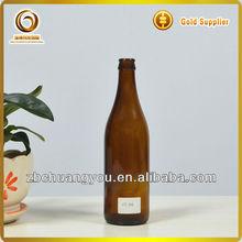brown color 500ml glass beer bottle (CY-R-B126)
