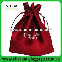 large satin drawstring bags/satin drawstring gift bag