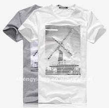 Fashion design 100% cotton men cotton white t shirt / fashion men beautiful t shirt R0152